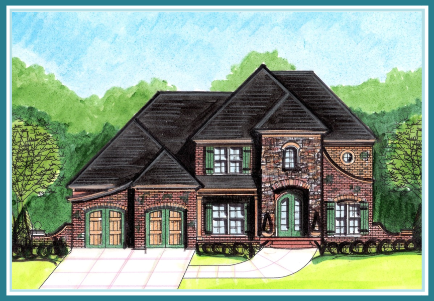 French country style home plan Home design and style