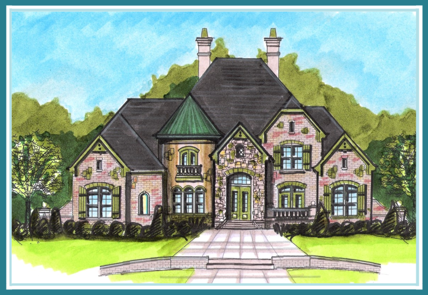 French country estate house plans house and home design for Country estate home designs